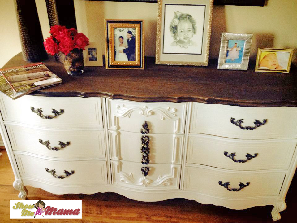 distressed dresser painted buffet wood server vintage custom console furniture